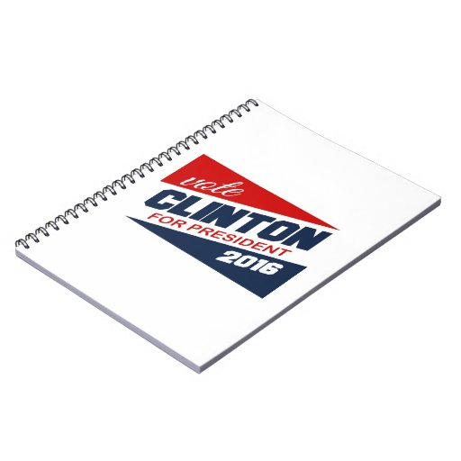 CLINTON 2016 SUPPORTER -.png Spiral Notebook