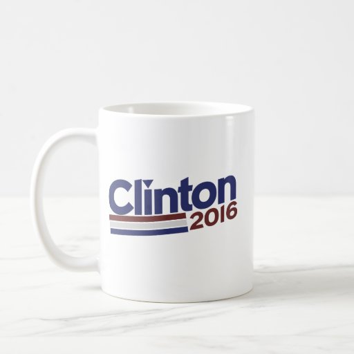 Clinton 2016 taza básica blanca