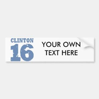 CLINTON 2016 UNIFORM DISTRESSED -.png Bumper Stickers