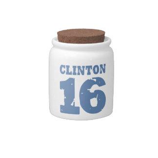 CLINTON 2016 UNIFORM DISTRESSED -.png Candy Dish