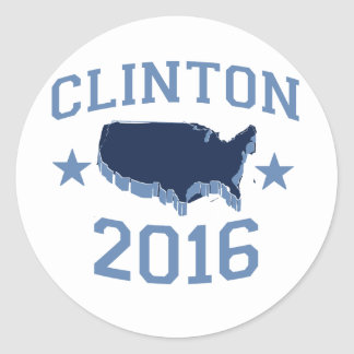 CLINTON 2016 UNITER png Round Stickers