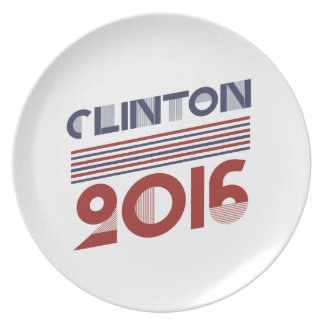 CLINTON 2016 VINTAGE STYLE DINNER PLATE