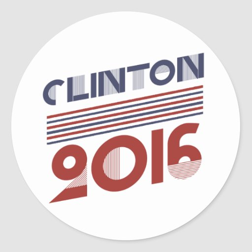 CLINTON 2016 VINTAGE STYLE -.png Classic Round Sticker