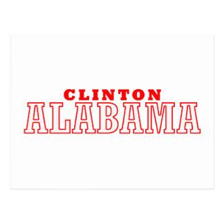 Clinton, Alabama City Design Postcard
