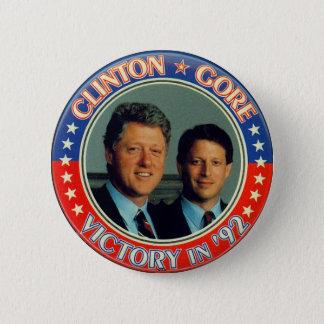 Clinton and Gore '92 jugate Button