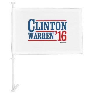 Clinton and Warren in 2016 - Running Mates Car Flag