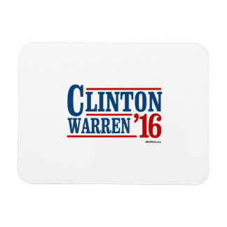 Clinton and Warren in 2016 - Running Mates Magnet