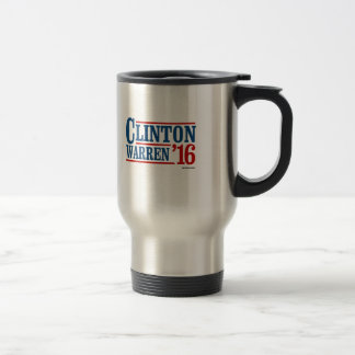 Clinton and Warren in 2016 - Running Mates Travel Mug