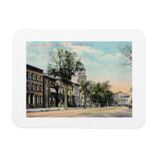 Clinton Ave., Newark, New Jersey 1909 Vintage Magnet