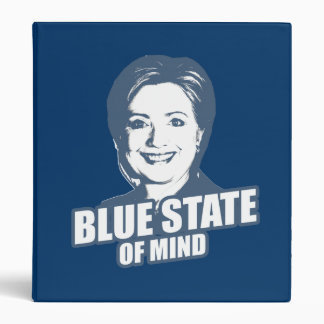 CLINTON BLUE STATE OF MIND 3 RING BINDERS
