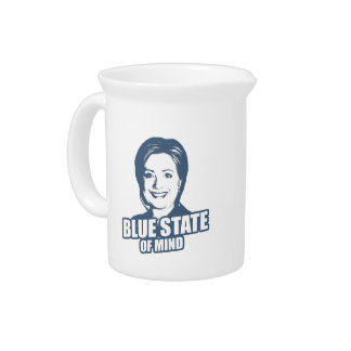 CLINTON BLUE STATE OF MIND -.png Beverage Pitcher