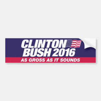 Clinton Bush 2016 Bumper Sticker
