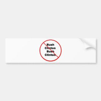 Clinton - Bush Bumper Sticker
