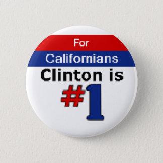 Clinton Californians Button