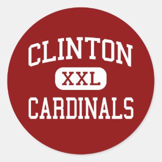 Clinton - Cardinals - High - Clinton Missouri Classic Round Sticker