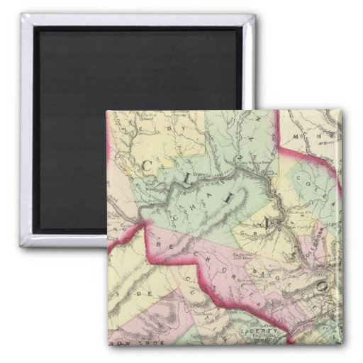 Clinton, Centre counties 2 Inch Square Magnet