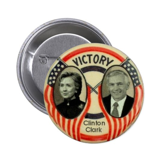 Clinton & Clark Pinback Button