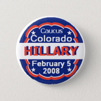 Clinton CO Caucus Button