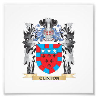 Clinton Coat of Arms - Family Crest Photo Print