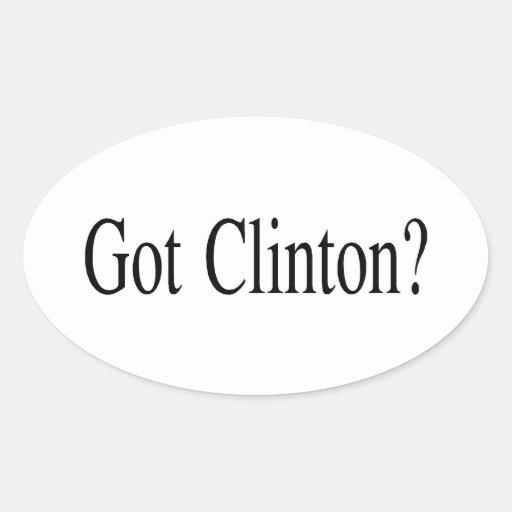 Clinton conseguido pegatina de oval personalizadas