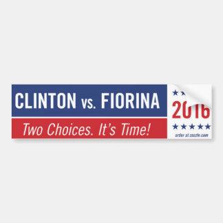 Clinton contra la pegatina para el parachoques pegatina para auto
