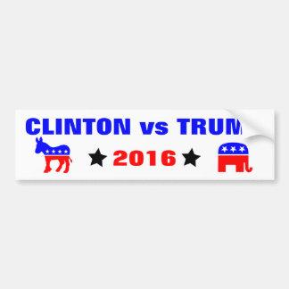 Clinton contra las elecciones presidenciales 2016 pegatina para auto