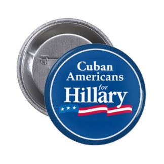 Clinton CUBANS Button