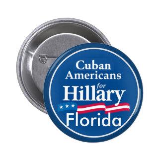 Clinton CUBANS FLORIDA Button