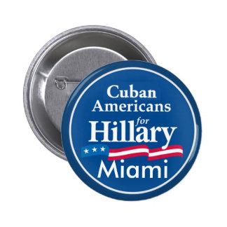 Clinton CUBANS MIAMI Button
