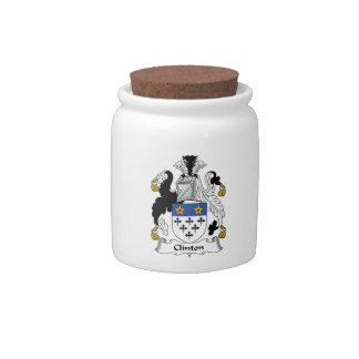 Clinton Family Crest Candy Dish