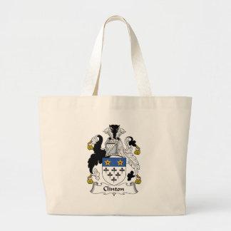 Clinton Family Crest Canvas Bag
