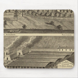 Clinton Fire Brick Works Anderson's Landing Mouse Pad