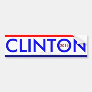 CLINTON for PRESIDENT 2016 Bumper Sticker