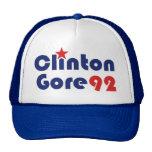 Clinton Gore 92 Demócrata retro Gorro