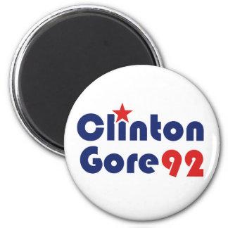 Clinton Gore 92 Demócrata retro Imán De Nevera