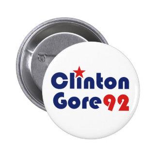 Clinton Gore 92 Demócrata retro Pin