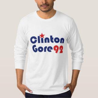 Clinton Gore 92 Demócrata retro Playera