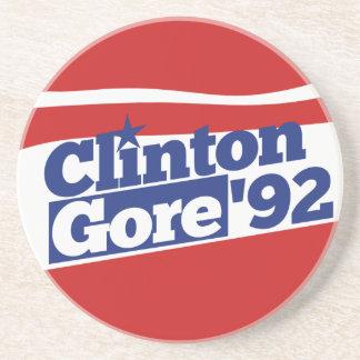 Clinton Gore 92 Drink Coaster
