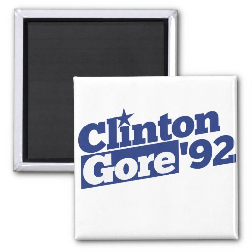 Clinton Gore 92 Imanes