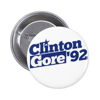 Clinton Gore 92 Pin