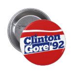 Clinton Gore 92 Pinback Button