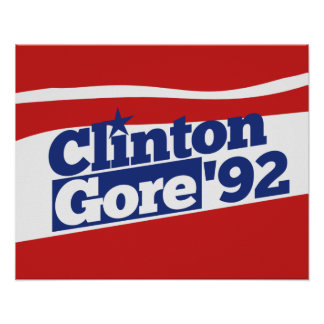 Clinton Gore 92 Posters