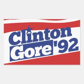 Clinton Gore 92 Rectangular Sticker