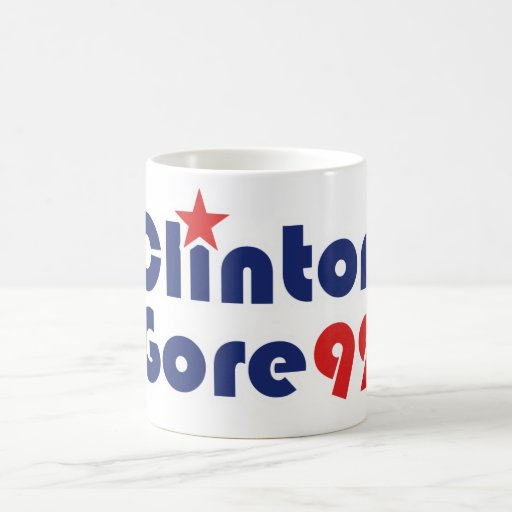 Clinton Gore 92 Retro Democrat political Coffee Mug