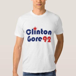 Clinton Gore 92 Retro Democrat T Shirt