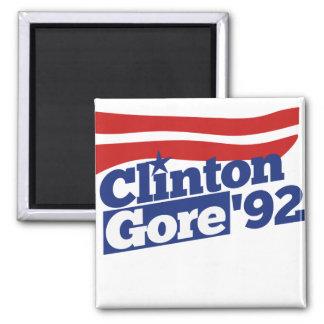 Clinton Gore 92 retro politics Fridge Magnet