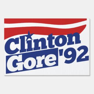Clinton Gore 92 retro politics Lawn Sign