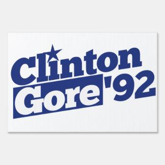 Clinton Gore 92 Sign