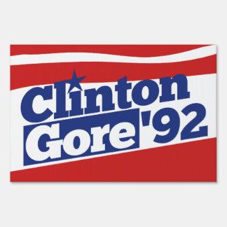 Clinton Gore 92 Signs