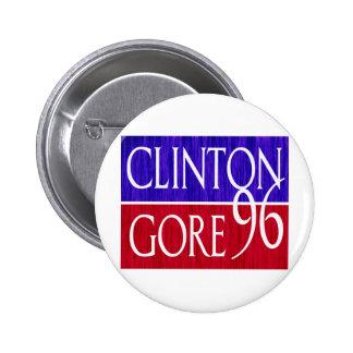 Clinton Gore 96 Distressed Design 2 Inch Round Button